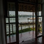 View from room over private secluded verandah to backwaters