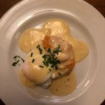 Smoked salmon & poached egg starter - wow!