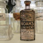 1880-1930 medicine bottles from local pharmacies.