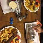 Kebab and chips