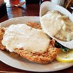 Chicken-fried steak w/ mashed potatoes