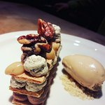 Chocolate & Walnut Mille-Feuille with Caramel ice cream