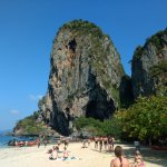 From Railay Beach island while island hopping.  (Activity coordinated by resort)