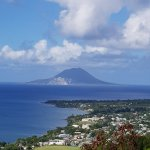 View over to St Eustatius