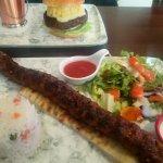 Mac Burger and Spiced Mince kebab