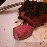Medium filet, very charred on the outside, but good!