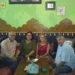 Myself Nadia in the green top, husban vincent next to me, sandra and Lionel from PE, regulars!!!