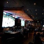 Bar with big screens