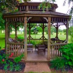 Gazebo on the backside of the property.