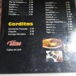 La Sorpresa menu in the Mercado de San Juan