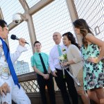 Vow Renewal on the Eiffel Tower with Elvis