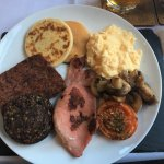 Neil's breakfast with Lorne sausage and haggis