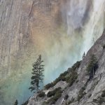 Morning Rainbow on Yosemite Falls