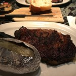 Blackened ribeye - best ever, you could cut it with a butter knife.