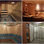 Complimentary private sauna