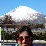 Had to take a solo photo with Mt. Fuji on the background.