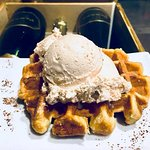 Waffle and gelato!