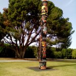 Totem pole in the grounds