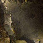 There are tight spots and massive caven in the cave