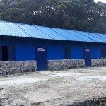 Athirimala Base camp. The old stone mandapam is reconstructed.