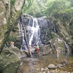 One of the many water falls that we crossed on Day 1 trek.