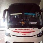 รถบัสของบริษัท Transnational ค่อนข้างใหม่ค่ะ ค่ารถระหว่างสนามบิน KLไป Sentral Melaka 24.10 RM ค่