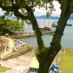 Vista do pier da Ilha de Anhatomirim