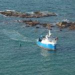 the fishing fleet returning ~4pm