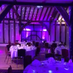 The barn dressed up by www.jlwsound.co.uk