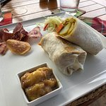 Great curry wrap!