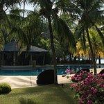 Reception, deluxe room, pool views at the Vivanta by Taj Rebak Island