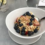 Granola with berries and home made granola.