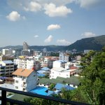 Patong beach and city view from Senses resort