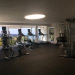 Gym facilities -modern equipment with an amazing view