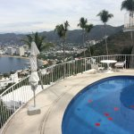Our private pool terrace overlooking Acapulco Bay