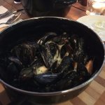 Beautifully cooked mussels to share