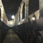 Inside the bodega, the barrells, three storeys high, for ageing of sherry