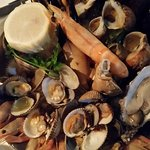 Assiette of Shellfish – Oyster, Crab, Wild King Prawn, Mussels, Cockles, Clams, Shell-on Cold Wa
