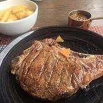 Rib eye steak on the bone