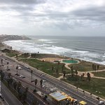 View from the 18th floor of the Dan Panorama. Jaffa in the distance.