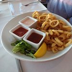 The Calamari has a light batter, served warm with three sauces: try the thai chili.