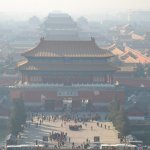 View of the Forbidden City (including the smog - bring a mask)
