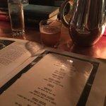 The menu: hidden in a book!