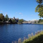 Opposite side of the River Ness to cathedral
