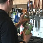 My TakeHome Crowler being poured