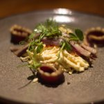 Juniper Cured Duck Breast, Celeriac Slaw