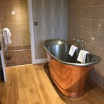 Free standing bath in suite