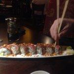 Kung Pao dragon sushi roll