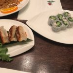 Gyoza vegetable dumpling, Boston roll & yakisoba
