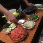 Table side guac preparation